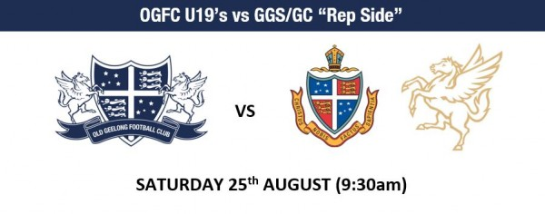 OGFC U19's vs GGS/GC Rep Side - SAT AUG 25th