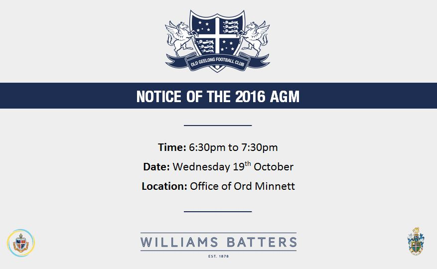 Notice of the 2016 AGM