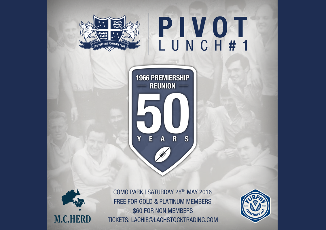 Tickets sold out for Pivot Lunch #1