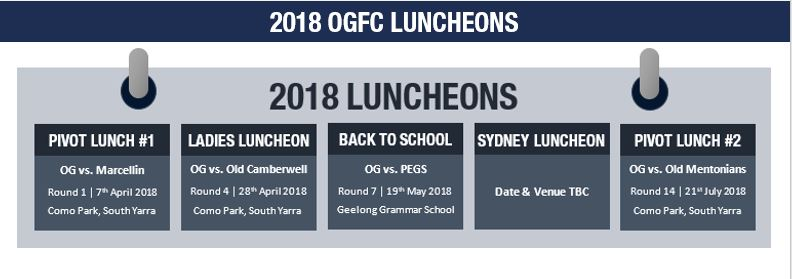 2018 OGFC LUNCHEONS