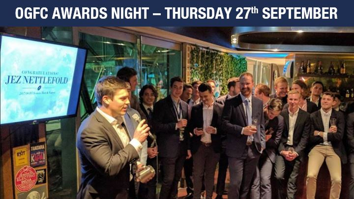 OGFC AWARDS NIGHT - THURSDAY 27th SEPTEMBER
