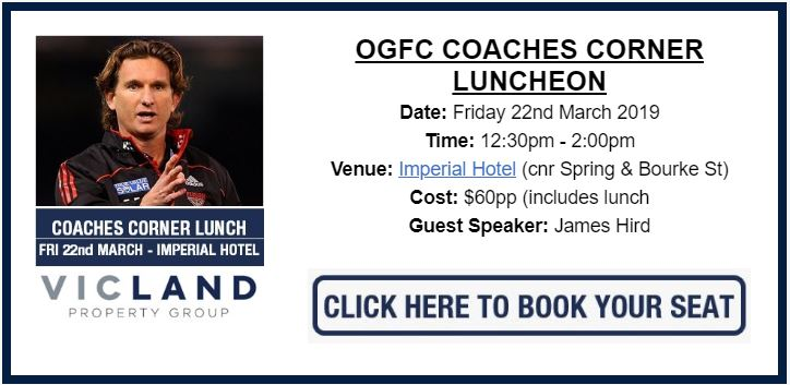 COACHES CORNER LUNCHEON RETURNS IN 2019
