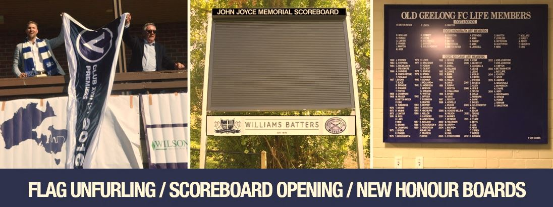 Flag Unfurling / Scoreboard Opening / New Honour Boards
