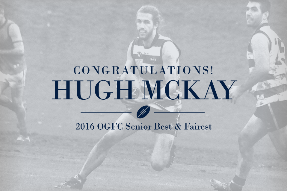 Hugh McKay wins B&F by a vote!